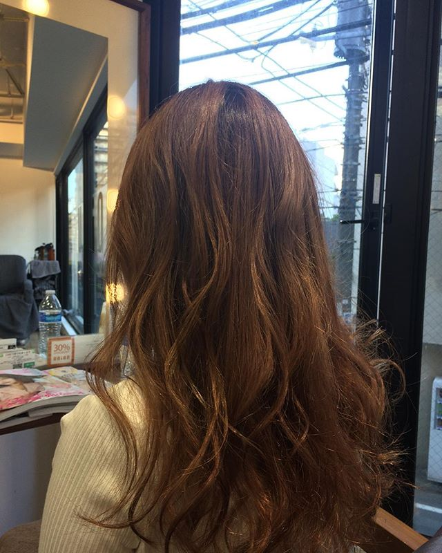 ブリーチONイルミナカラー  イメージはディズニーのチップとデールのチップ🐿❣️ブリーチしているので透明感のあるカラーになります薄井 #hairmakeunio